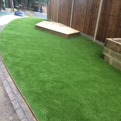 Artificial Grass Installation in Black Pole 12
