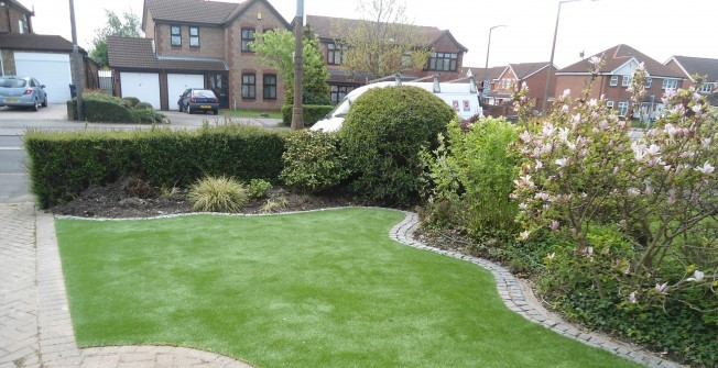 Fake Grass Garden in Alberbury