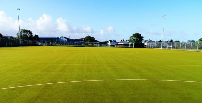 Astroturf Sports Pitch in Cymmer