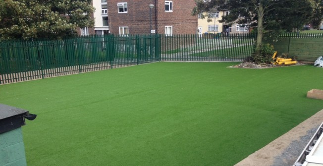 Artificial Grass for Schools in Aberllefenni