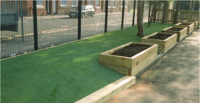 Synthetic Turf Garden in Almshouse Green